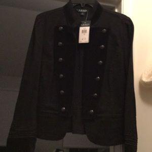 Lauren Ralph Lauren Jean/Velour Jacket w/Detail